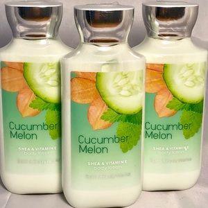 🆕Bath & Body Works Cucumber Melon Lotions X3